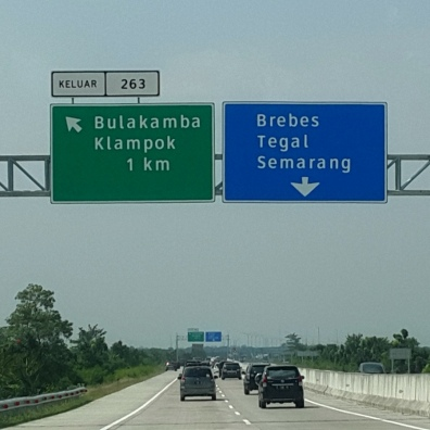 Signage in the new toll-road