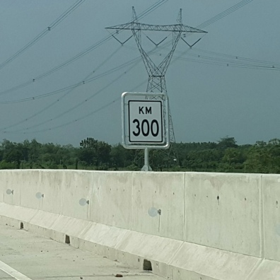KM300, means 300km toll-road driving from Jakarta