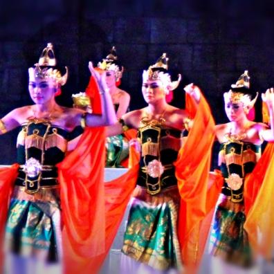 Dancers in Borobudur
