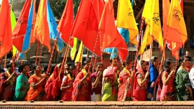 Women in a Festival in Nepal