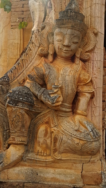 The Art on Inthein ruins, Inle, Myanmar