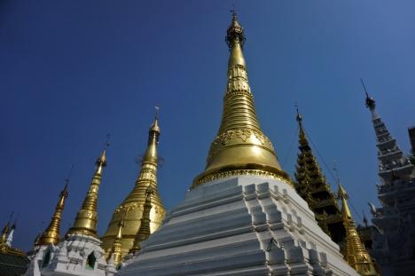 Many Stupas in Shwedagon, Yangon, Myanmar