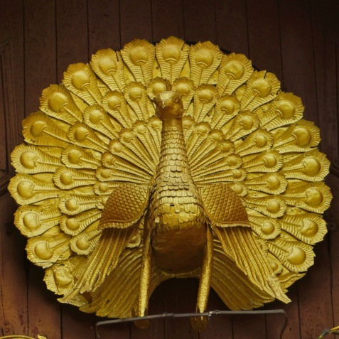 Golden Peacock on Shwedagon