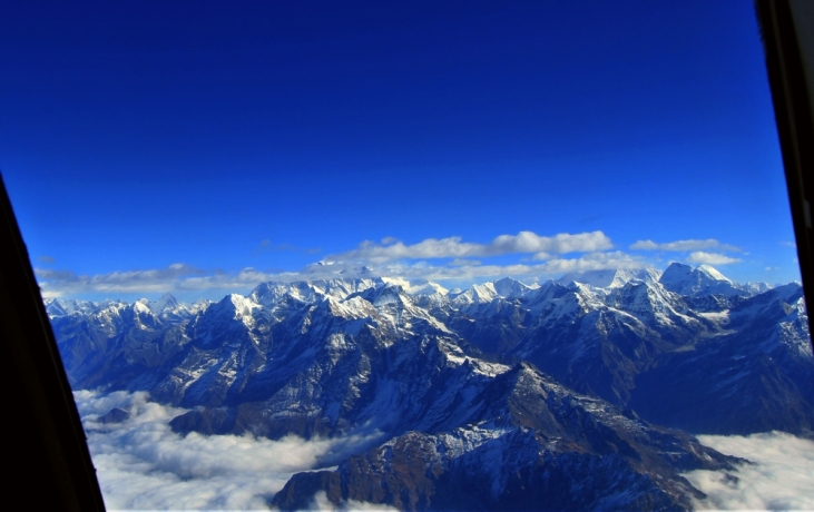Everest View From the Cockpit