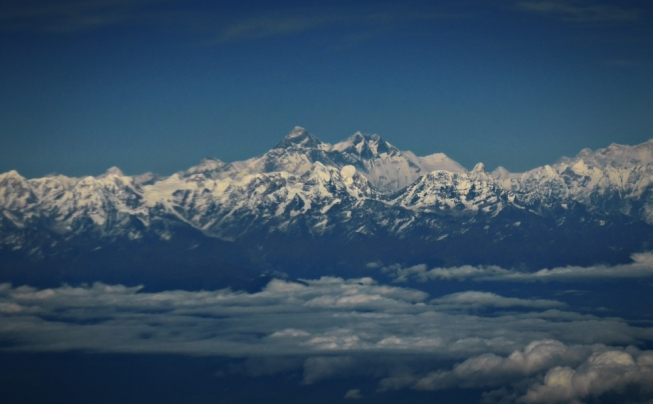 Everest View From the flight back home...