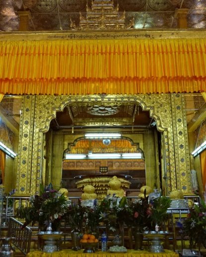 Central Altar of Phaung Daw Oo Pagoda, Inle Lake, Myanmar