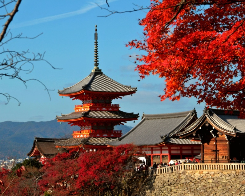 Kiyomizudera at Autumn - The Pagoda