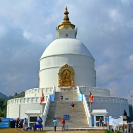 World Peace Stupa, Pokhara, Nepal