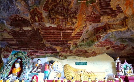 Lots of carvings on the roof of the Cave