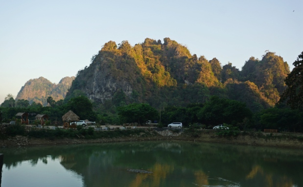 View in front of Yathaypyan Cave