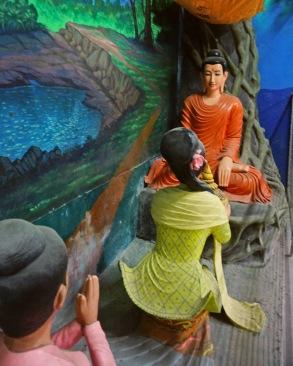 Inside the Reclining Buddha, Myawlamyine