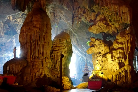 Stalagtite & Stalagmite in Saddan Cave