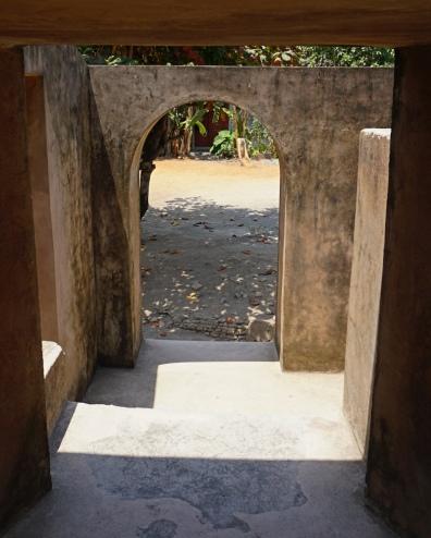 A curved door