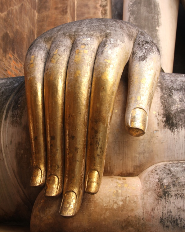 The Fingers of Buddha in Wat Si Chum